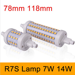 Super bright R7S LED Bulb 7W 14W SMD2835 85-265V Dimmable 78mm 118mm LED Lamp Bulb R7S Light 360 Degree Halogen Lamp Floodlight