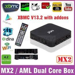 Wholesale MX TV Box G BOX MX2 XBMC Kodi Fully Loaded Addons Google Android Smart iLive TV Box HD1080P R28 Media Player GBOX G18ref Miracast