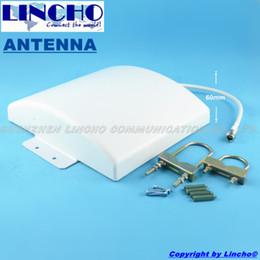 ommunication оборудование Антенны для связи Открытый Водонепроницаемая панель антенны 12dBi 800-2500MHz GSM 3G WIFI DCS повторителя сигнала FLA ... от Производители 3g антенна вызывных панелей