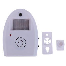 Wholesale Shop Entry Door Bells - New 2015 Alarm Entry Door Bell Wireless Doorsbell Welcome Alarm Chime Motion Sensor for Shop high quality