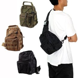 Wholesale Mens Tactical Military Bags Molle Messenger Assault Sling Rucksacks with Adjustable Straps Nylon Material Hot Sale OT0010