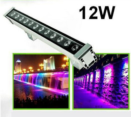 Wholesale-(10pcs lot) LED Outdoor Wall Wash Light 12W LED Wall Washer Landscape wash Lamp AC85-265V red blue yellow white warm RGB