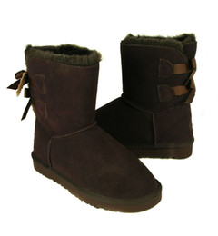 Wholesale DORP SHIPPING New Fashion Australia classic tall BGG winter boots real leather Bowknot women s snow boots shoes with gift