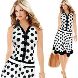Wholesale-Summer Style Women Dress Plus Size Dresses 2015 New Exoplosion Models Polka Dot Printing Sleeveless Dress Vestido Mujer C145