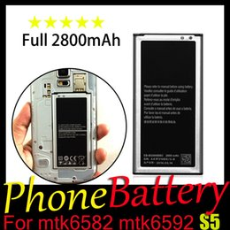 Wholesale S5 Phone Battery Capacity mAh v Battery Replacement Quality Guarantee Year Warranty For MTK6582 MTK6592 S5 Original I9600