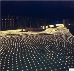 Promotion rgb led net 6 * 4 mètres de grands feux de réseau LED lumières de Noël net feux de rideau de lumière lampes flash festival lumières de noël