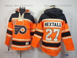 2016 New, Philadelphia Flyers Hoodies Old Time Hockey Hoodies #27 Ron Hextall Hoodie Orange Authentic Heavyweight Stitched Hoodie M-XX