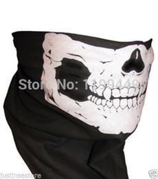 Wholesale-Free shipping 1 pcs Skull Design Multi Function Bandana Ski Sport Motorcycle Biker Scarf Face Mask Sport masks skull mask Free