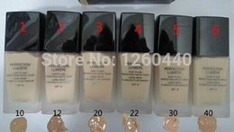 Wholesale XMAS GIFT new Brand Makeup Foundation Face Base Make up Perfection Lumiere Liquid Foundation ML COLOR AIR DHL FREE