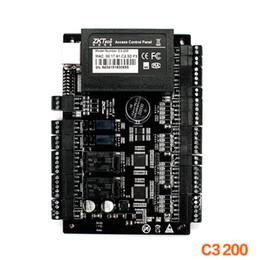 Скидка радиочастотная идентификация панель доступа Панель Главного управления ZKSoftware C3-200 2 двери Профессиональные RFID RFIC карты контроля доступа с Уэиганд TCP / IP RS485 Свободная перевозка груза