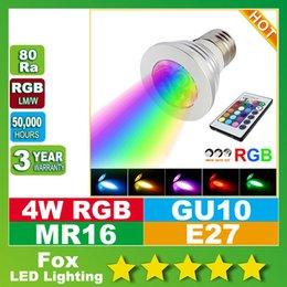 RGB LED super brillante Bombillas GU10 E27 E14 B22 GU5.3 MR16 12V / 85-265V LED pone de relieve la función de memoria de color múltiple + mando a distancia IR desde fabricantes