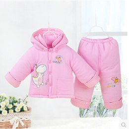 2015 Winter Newborn Clothing Set 0-3Months Brand Pink Baby Girl Clothes100% Cotton Thickening Warm Infant Clothing Free Shipping
