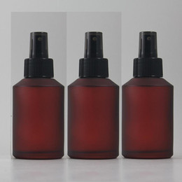 125ml red rose frosted Glass lotion bottle with black plastic pump,cosmetic packing,cosmetic bottle,packing for liquid