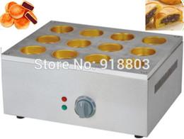 Commercial Use Copper Hole 220v Electric 12pcs Japanese Dorayaki Red Bean Cake Maker Baker Oven Machine