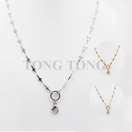 24''(60cm) silver gold rose gold 316L stainless steel Pendant Necklace Cross Chain