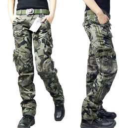 The new outdoor leisure multi-pocket trousers couple models climbing pants Ms. Field camouflage pants trousers military fans Tactical Pants