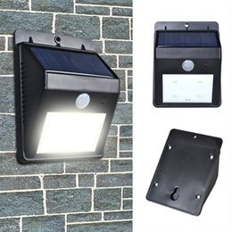 Wholesale-Waterproof 8 Led Solar Light Outdoor Security Motion Solar Sensor Wall Lights Lamp For Garden Street