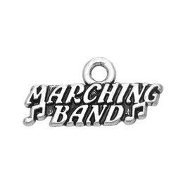 NEW arrivel 50pcs a lot rhodium plated marching band military jewelry charm