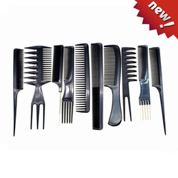 China Post Air Mail Free shipping Professional Salon Hair Comb Set(10pcs=1set),good for barber.