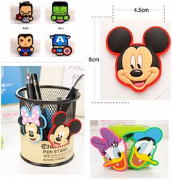 Wholesale Mickey And Minnie Fridge Magnet Cute PVC Magnet Home Décor styles The Avengers Alliance Hero Alliance Refrigerator Magnets