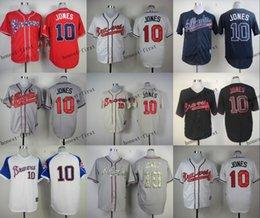 Wholesale atlanta braves chipper jones Cheap Wholesales Baseball Jersey Embroidery Name and Logo EME DHL