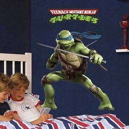 Wholesale 2015 Amazing Teenage Mutant Ninja Turtle Wall Stickers Art Decals Kids Boy Room Decor pieces
