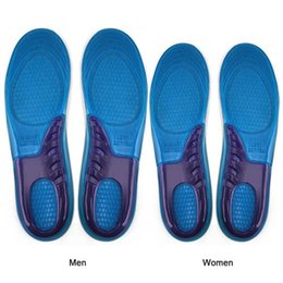 Wholesale Amazing Man SIZE Sports Massaging Silicone Gel Insoles Arch Support Orthopedic Plantar Fasciitis Running Insole For shoes
