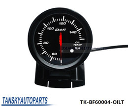 Wholesale Tansky Defi mm High Quality Auto Car Motor LED OIL TEMP GAUGE Black Bracket with Red White Light TK BF60004 OILT