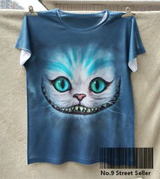 Wholesale New Retro T shirt Top Tee Smile Ghost Cheshire Cat Alice Alice s Adventure in Wonderland