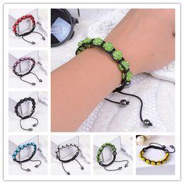 Wholesale Fashion Shambhala Jewelry New Mix Colors Sales Promotion mm Crystal AB Clay Disco Balls Shambala Bracelets
