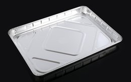 Wholesale aluminum foil tray Eco Friendly Party and Wedding Disposable Plates baking pan DT3345