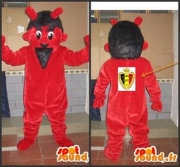 Real Pictures Deluxe Red Monster+LOGO mascot costume