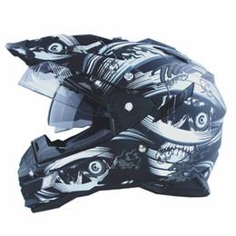 Wholesale-New arrival THH casco capacete motorcyrle helmet off-road motocross multi-function helmet with dual lens motoqueiro helmets DOT