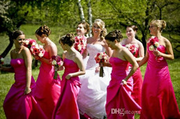 Stunning Hot Red Bridesmaid Dresses A Line Floor Length Jersey Ruffles Custom Made High Quality Formal Party Dresses New Arrival