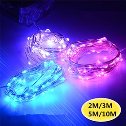 2M 3M 4M 5M 10M LED Battery Strings Mini LED Copper Wire String Light AA Battery Operated Fairy Party Wedding Flashing LED Christmas String