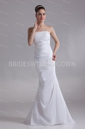 Mermaid Strapless Brush  Sweep Train Mermaid Trumpet Wedding Dresses