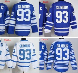 Factory Outlet, For Sale Cheap Mens #93 Doug Gilmour Jersey Best Quality Embroidery logos Ice Hockey Jersey High Quality Stitched Size M-3XL