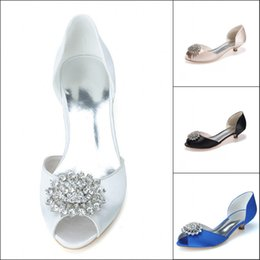 Royal Blue Champagne Wedding Shoes Custom Make Rhinestone Crystal Open Peep Toe Women's Prom Party Evening Dress Shoes
