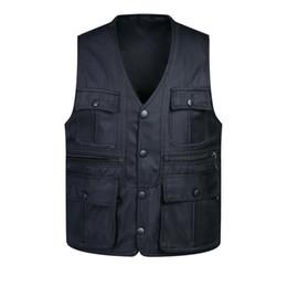 Fall-Photographer Vest Multi Pocket Sleeveless Jacket Black Outdoor Vest For Men Camping Hunting Army Green Khaki Solid Gilet