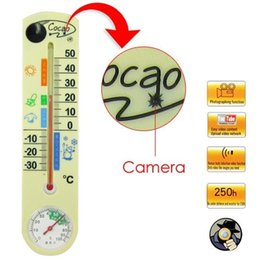 Spy camera thermometer Household Wall Thermometer Camera DVR with Remote Control