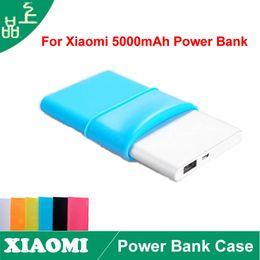Wholesale 5pcs Xiaomi powerbank Power Bank Case Silicon Case for Xiao MI MIUI mAh PowerBank Soft Colorful Protector colors