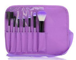 2016 HOT Makeup Brushes Make Up Brush Set Kits Eyelash Blush Brush Eye-shadow Brush Sponge Sumudger 7pcs Make Up Tools PU Bag