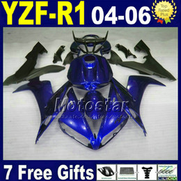 7gifts fairing kit for YAMAHA R1 2004 2005 2006 blue black YZFR1 04 05 06 fairings 32AX Injection road motorcycle bodywork set