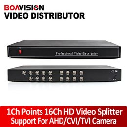 Wholesale High Definition HD Video Splitter Distributor Points Output Support AHD HDCVI HDTVI Camera BNC In Out Distance Max To M