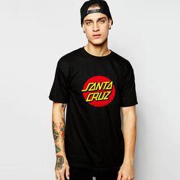 Wholesale New OEM Skateboard Skate Santa Cruz t shirt Men t shirt Cotton Printed Loose tshirt Tees Camiseta Mens Clothing
