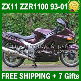 93-01 For KAWASAKI NINJA ZX11 ZZR1100 ZX-11 ALL Purple 3J627 ZX11R ZZR 1100 11 1993 1995 1996 1998 Glossy purple 1999 2000 2001 Fairing