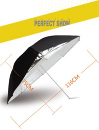 HPUSN Photo Studio Flash Light Reflector Reflective Black Sliver Double detachable Layer Soft Umbrella reflector light