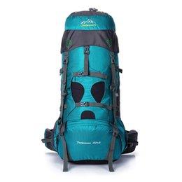 6 colors 75L waterproof travel backpack outdoor camping Big men professional climbing bags hiking sport ski bag men's backpacks