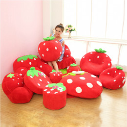 Wholesale Pink and Red Strawberry Design Kids Bedroom Furniture Sets For Children Birthday Xmas Best Gifts Home Decor