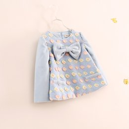 Wholesale-Children's clothing, Girl's Fashion Woollen Tops, Color flowers bow T-shirt, Girl's casual bottoming shirt